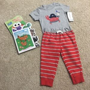 NWT Carter's Crab Outfit